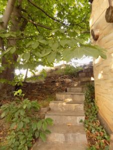 beside stairs